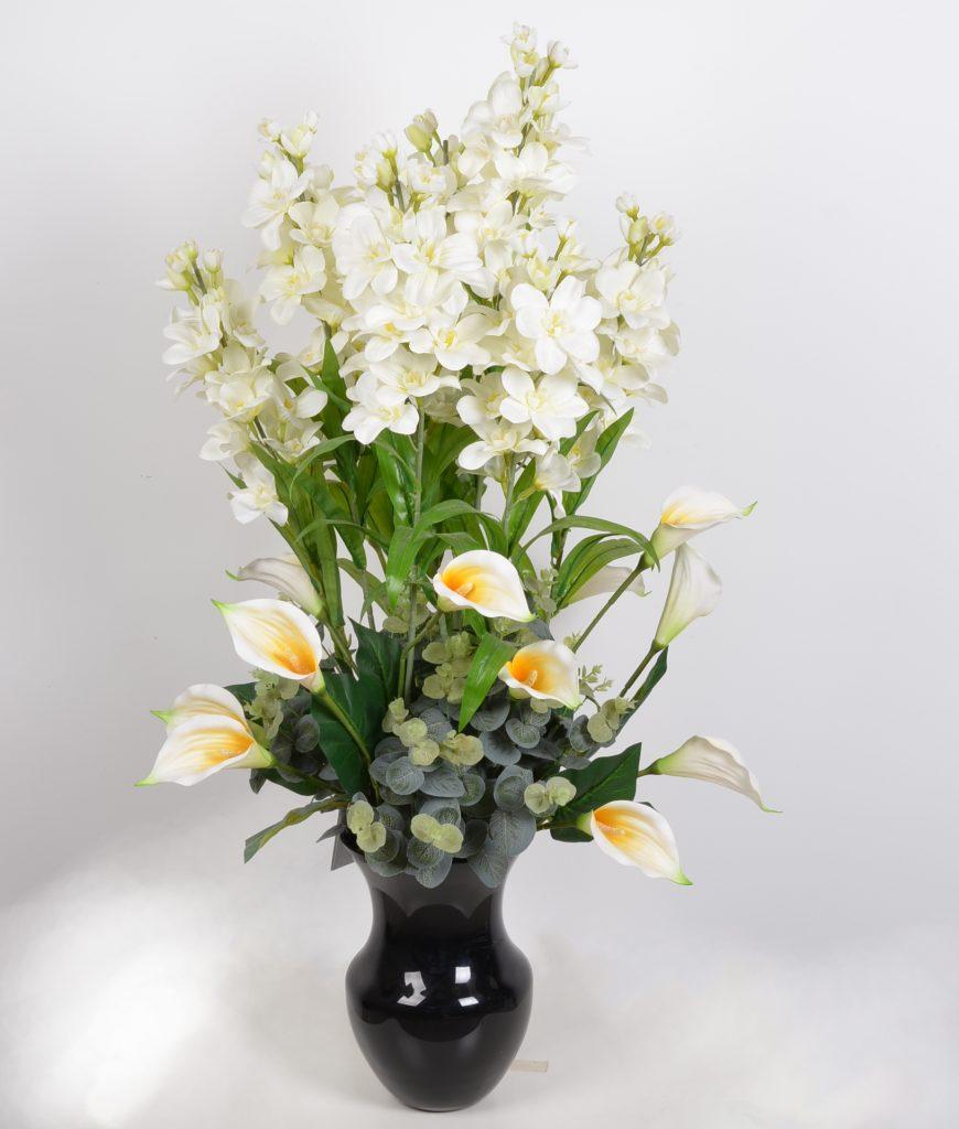 סידור פרחי משי גדול עם קאלות