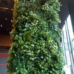 קיר ירוק עשיר